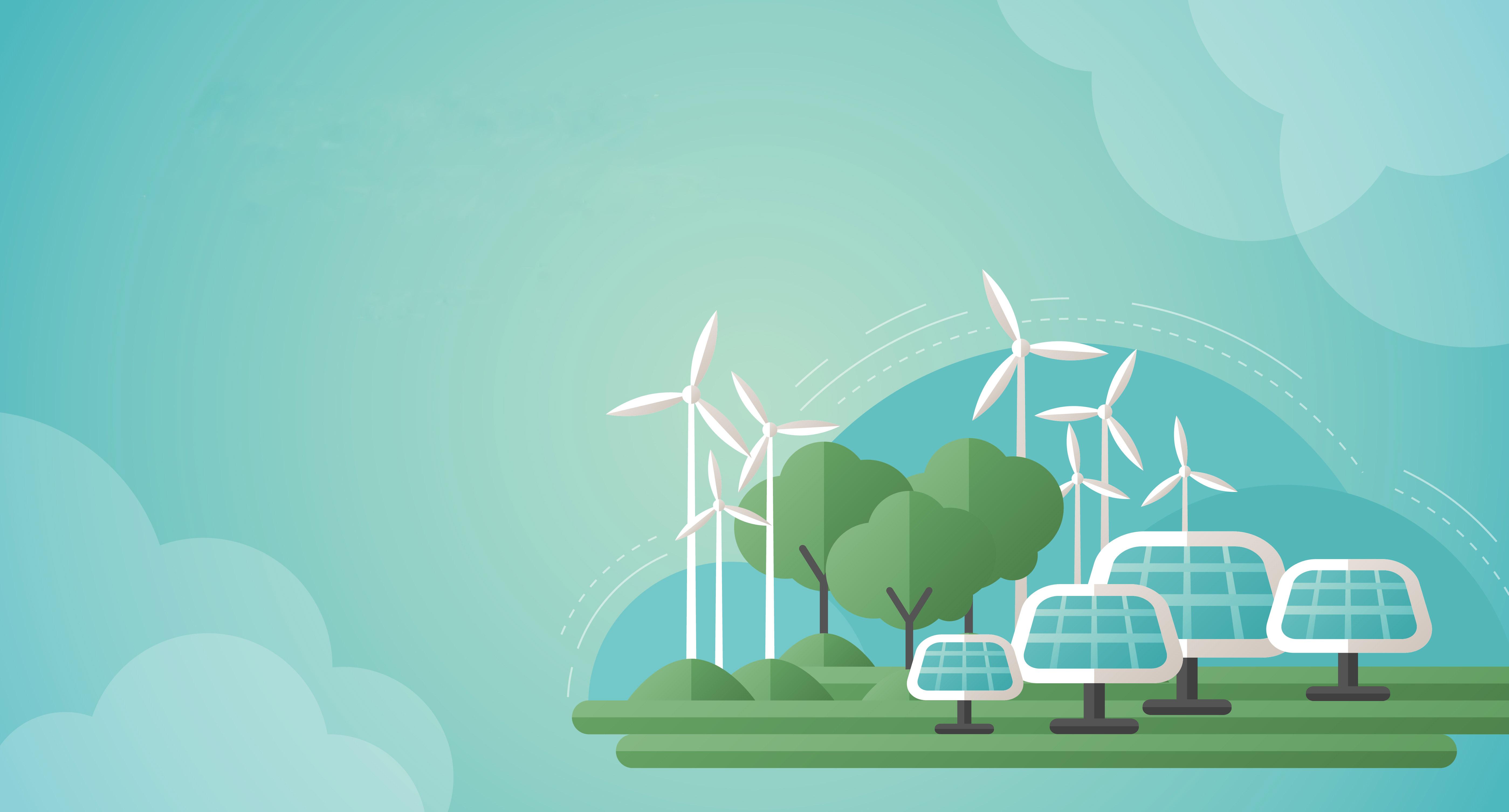 zonnepanelen, windmolens, groen